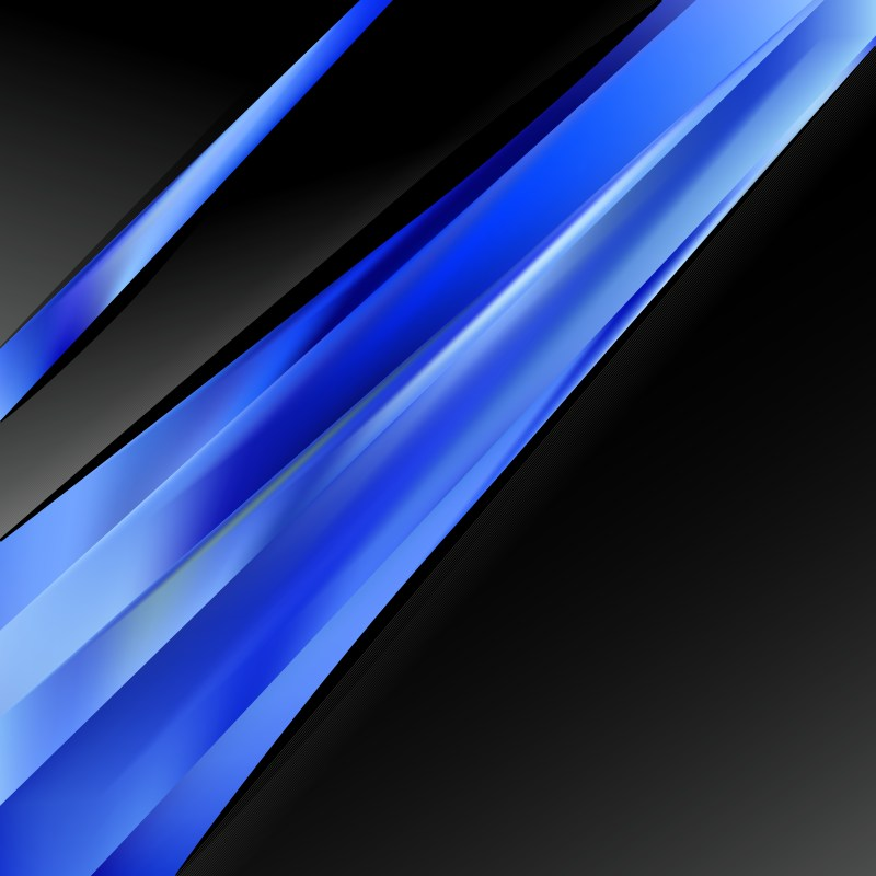 Abstract Black and Blue Business Brochure