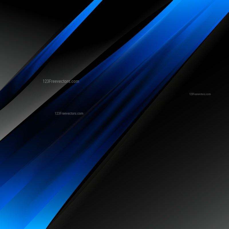 Black and Blue Business Brochure Template