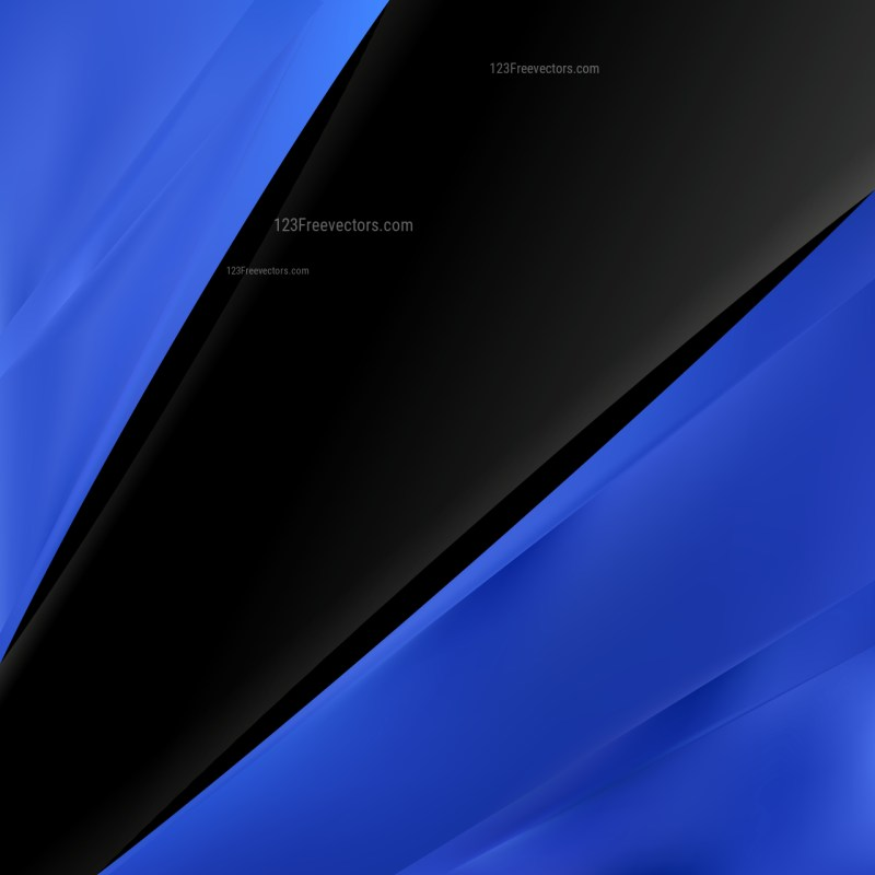 Abstract Black and Blue Brochure Design Graphic