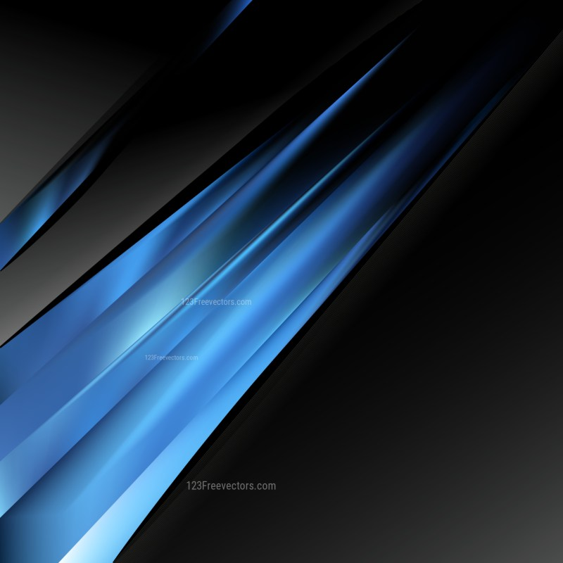 Abstract Black and Blue Business Background Template Design