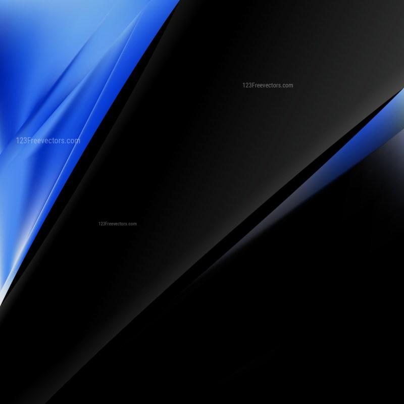 Black and Blue Brochure Design Template