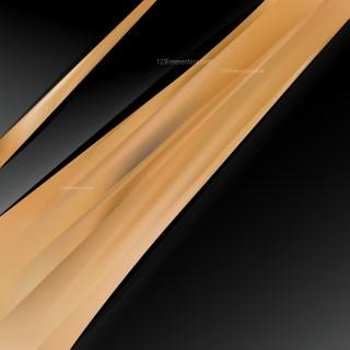 Black and Brown Business Brochure Vector Art