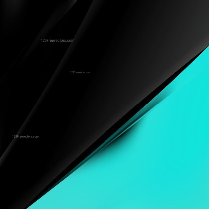 Abstract Black and Turquoise Business Brochure Design