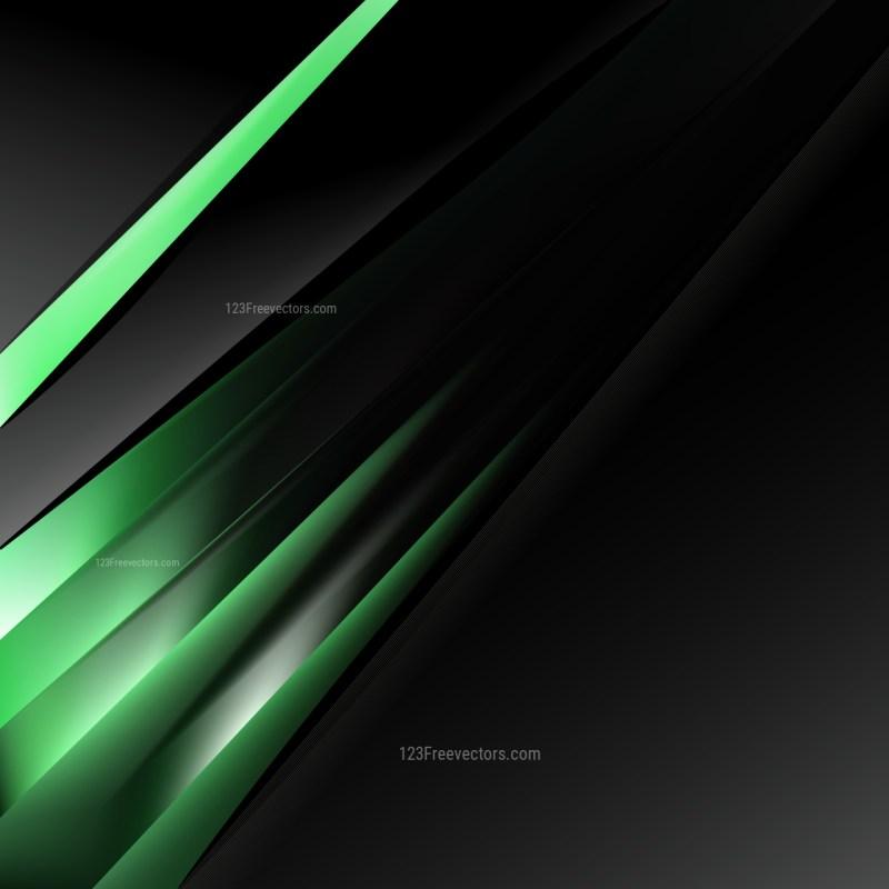 Cool Green Business Brochure Vector Art