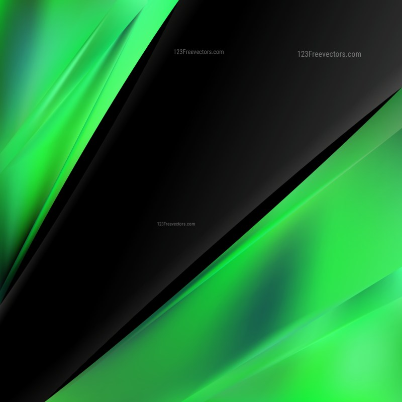 Abstract Cool Green Business Brochure