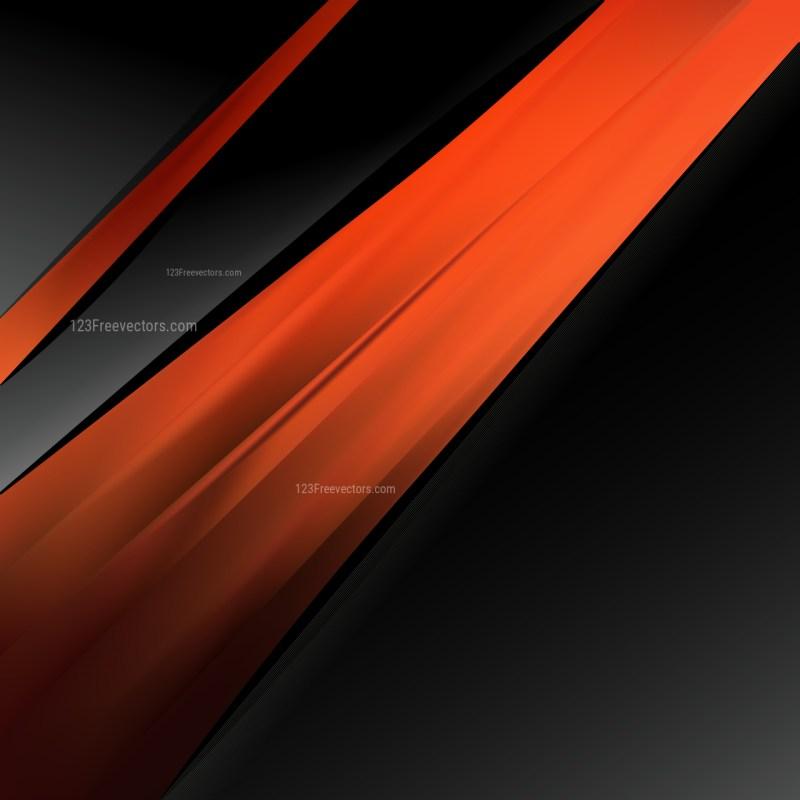 Abstract Cool Orange Brochure Design Template Vector