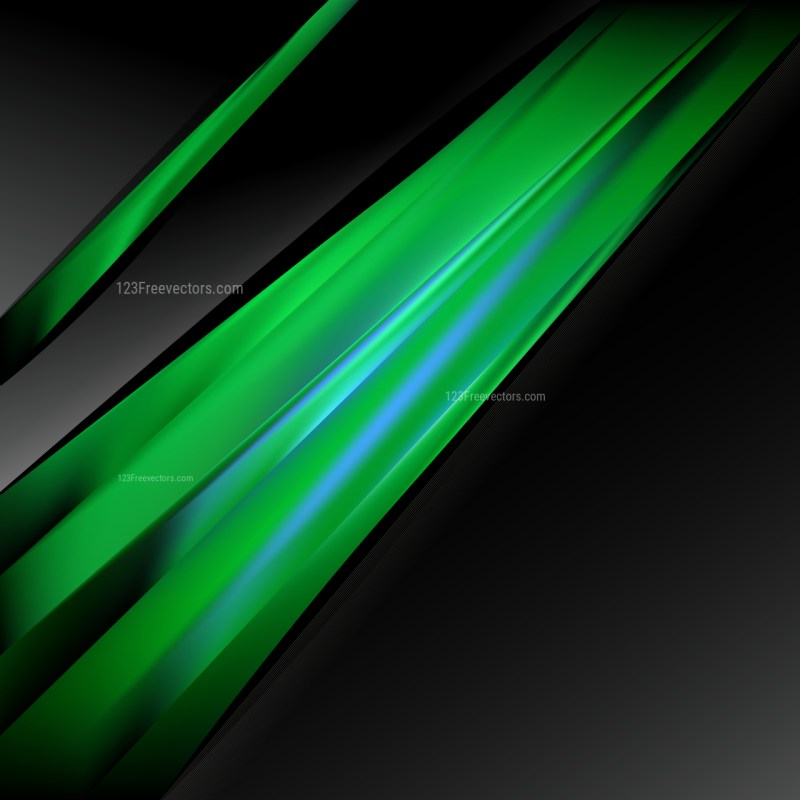 Abstract Green and Black Brochure Design