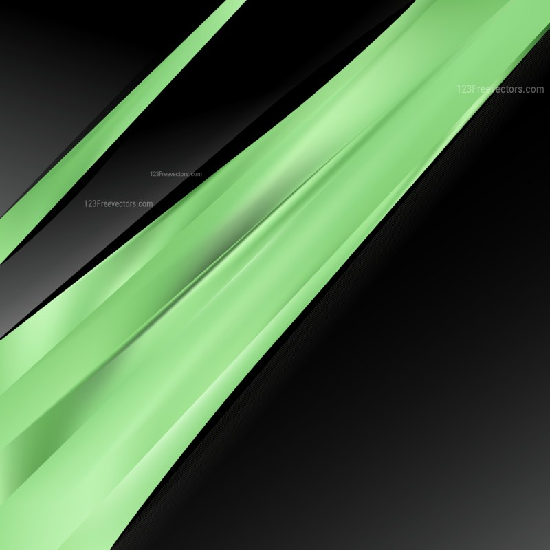 Abstract Green and Black Business Brochure