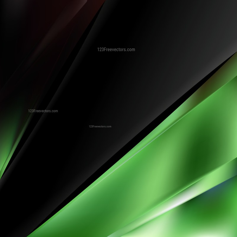 Abstract Green and Black Brochure Design Template Vector Graphic