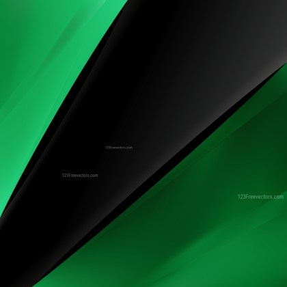 Abstract Green and Black Business Brochure Template