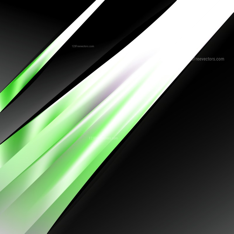 Abstract Green Black and White Business Brochure Illustrator