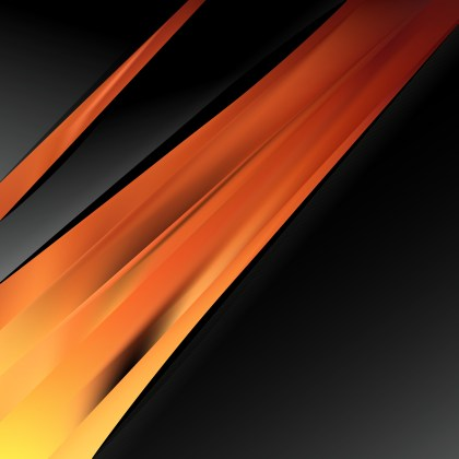 Abstract Orange and Black Business Background Template
