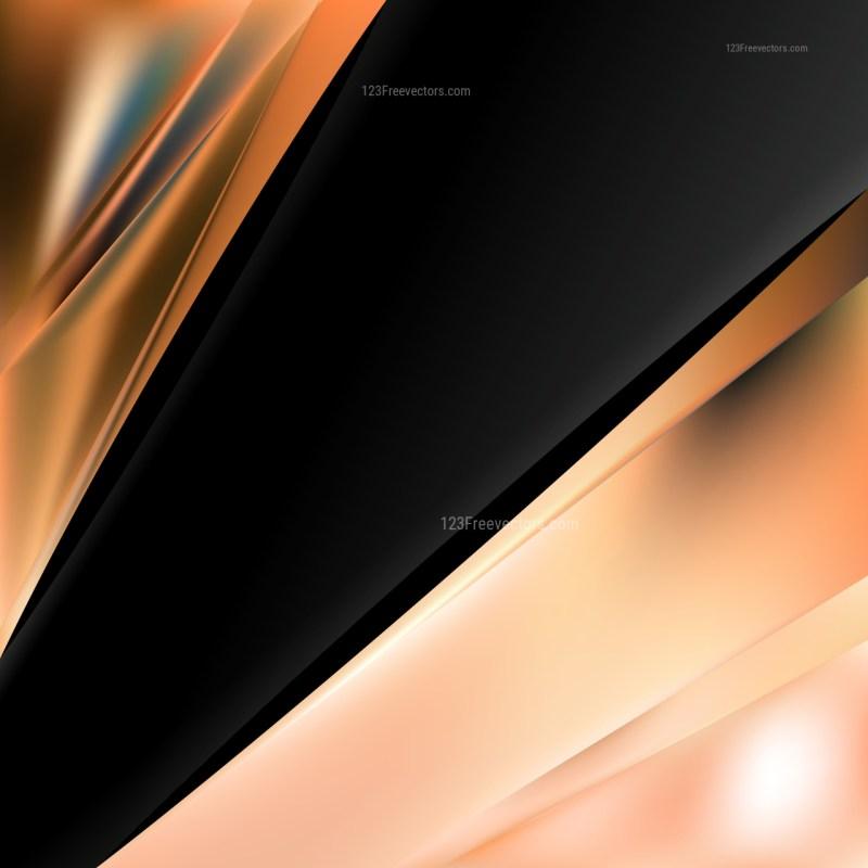 Abstract Orange and Black Brochure Design
