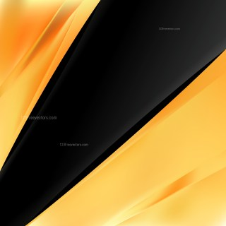 Abstract Orange and Black Brochure Design Template Illustration