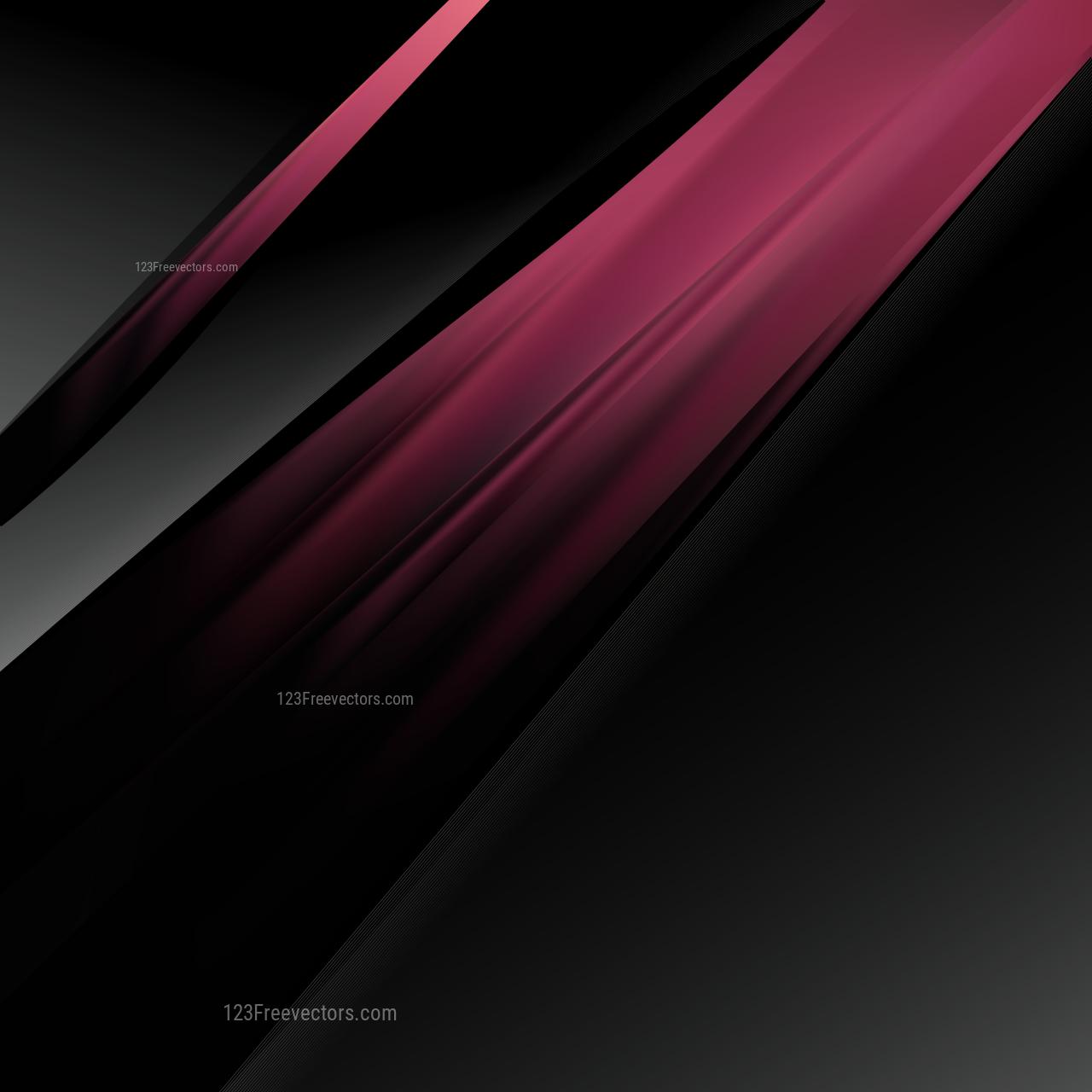 Pink and Black Brochure Design Vector Illustration