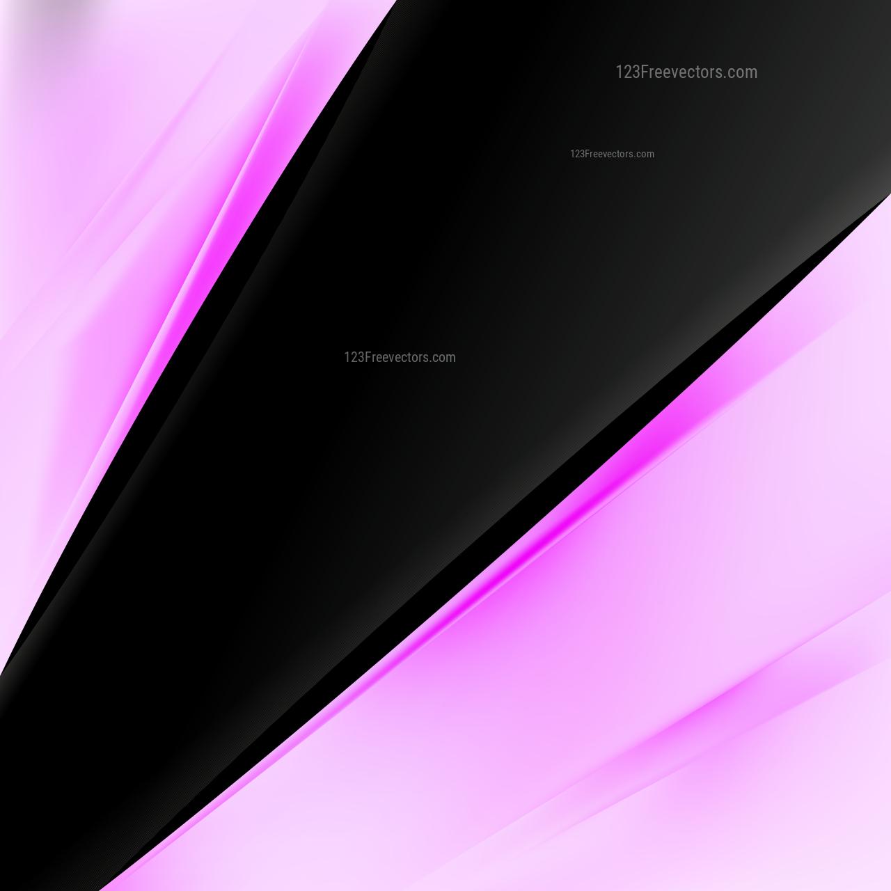 Pink and Black Brochure Design