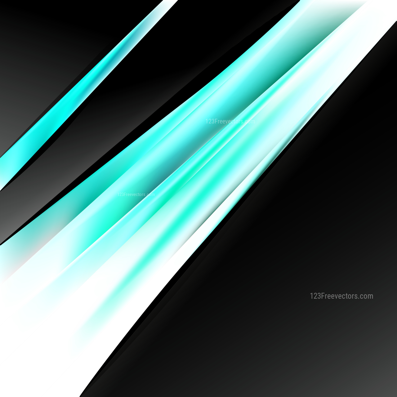 Turquoise Black and White Business Background