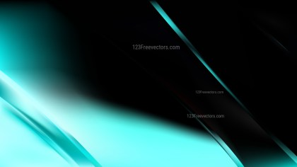 Abstract Black and Turquoise Diagonal Shiny Lines Background Vector Image