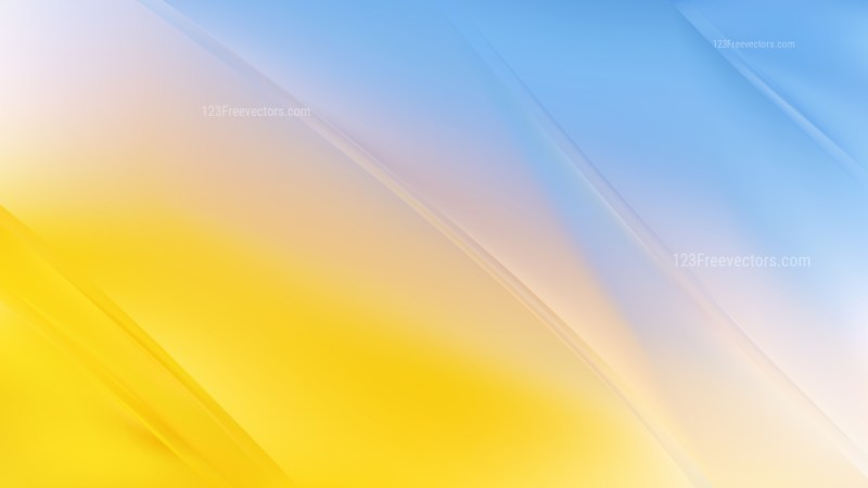 Blue Yellow and White Diagonal Shiny Lines Background Vector Illustration