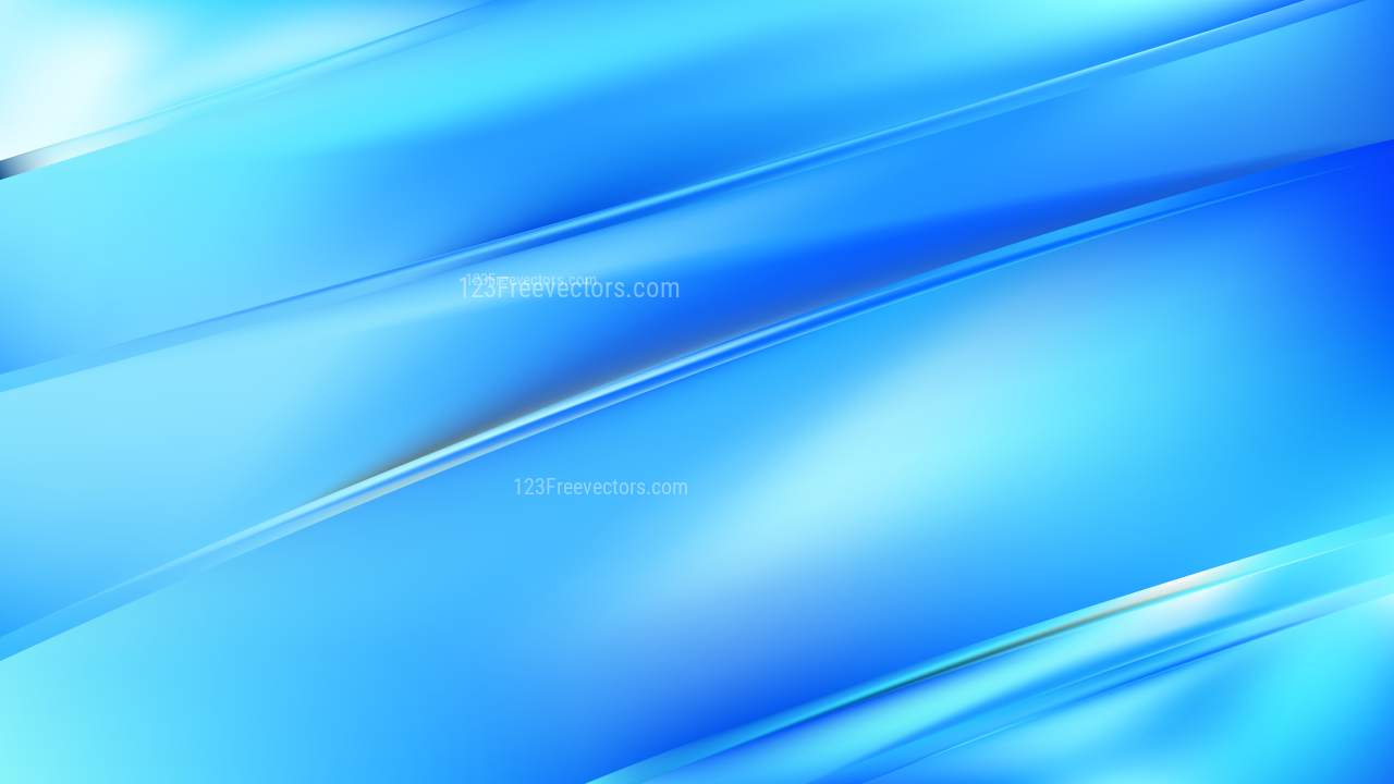 Abstract Bright Blue Diagonal Shiny Lines Background Vector Image