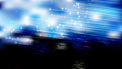 Blue Black and White Glowing Diagonal Lines Background
