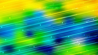 Abstract Shiny Blue Green and Yellow Diagonal Lines Background Vector Image