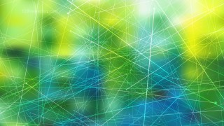 Abstract Dynamic Random Lines Blue Green and Yellow Background