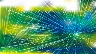Abstract Dynamic Random Lines Blue Green and Yellow Background Vector Graphic