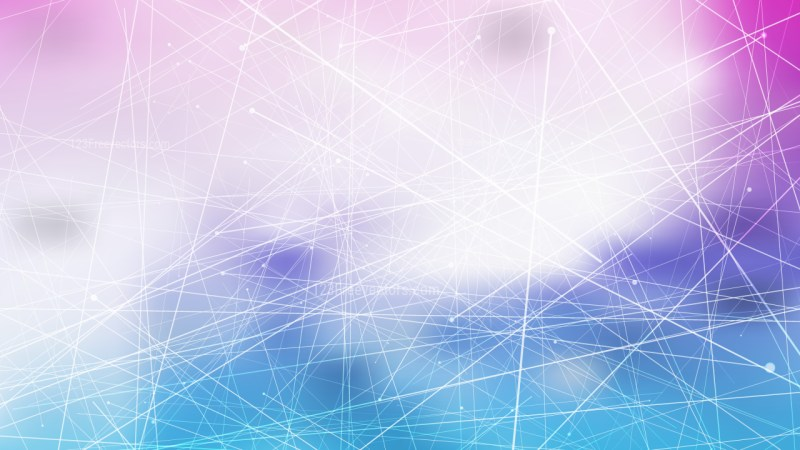 Abstract Dynamic Irregular Lines Blue Purple and White Background