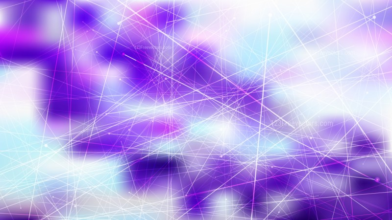 Abstract Geometric Random Irregular Lines Blue Purple and White Background