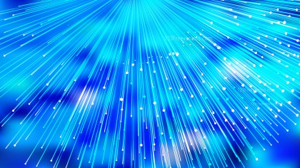Abstract Shiny Bright Blue Burst Lines Background Vector Art