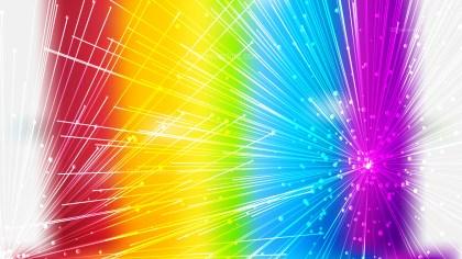 Abstract Geometric Random Irregular Lines Colorful Background