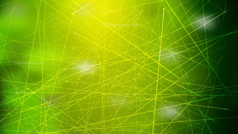 Abstract Random Intersecting Lines Dark Green Background Illustration
