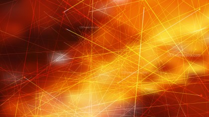 Abstract Random Chaotic Intersecting Lines Dark Orange Background Vector Illustration