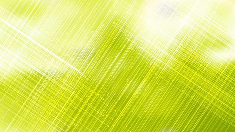 Abstract Shiny Green Yellow and White Intersecting Lines Background