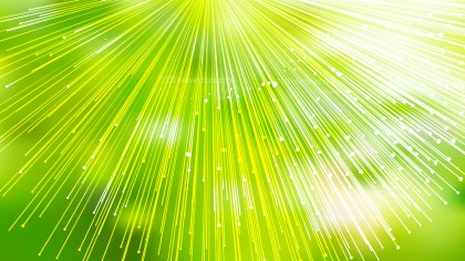 Shiny Green Yellow and White Radial Burst Lines Background