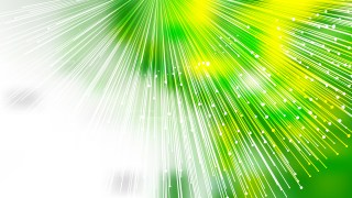Abstract Green Yellow and White Bursting Lines Background Vector Image