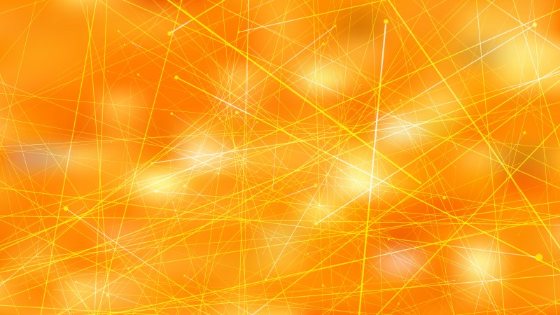 Abstract Asymmetric Random Lines Orange Background Illustration