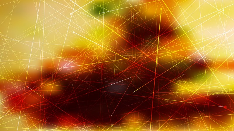 Abstract Random Intersecting Lines Orange and Black Background