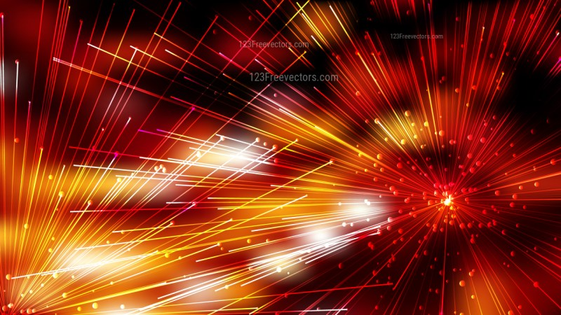 Abstract Random Intersecting Lines Orange and Black Background Graphic