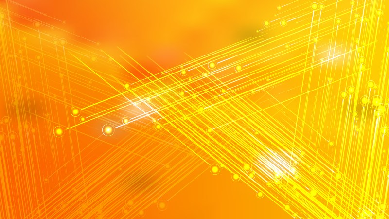 Shiny Orange and Yellow Crossing Lines Background