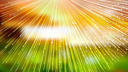Abstract Shiny Orange White and Green Bursting Lines Background Vector