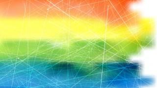 Abstract Dynamic Irregular Lines Pastel Rainbow Background Vector Illustration