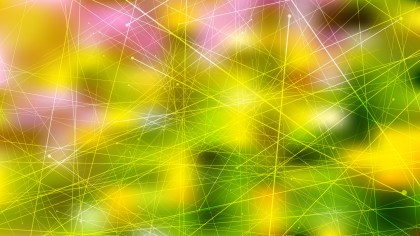 Abstract Random Intersecting Lines Pink and Green Background