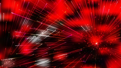 Abstract Geometric Random Irregular Lines Red and Black Background Design