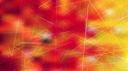 Abstract Geometric Random Irregular Lines Red and Yellow Background Vector Graphic