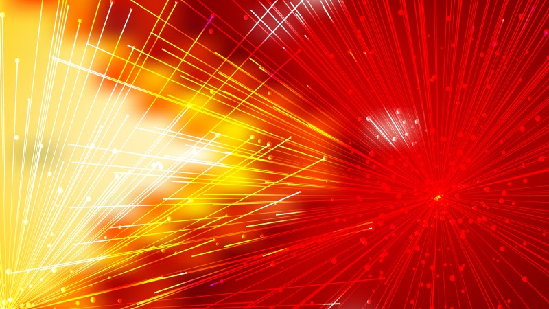 Abstract Random Intersecting Lines Red and Yellow Background Vector