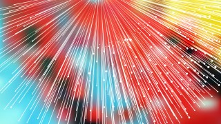 Abstract Shiny Red Yellow and Blue Bursting Lines Background
