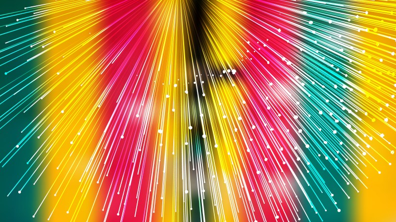 Abstract Red Yellow and Green Bursting Lines Background