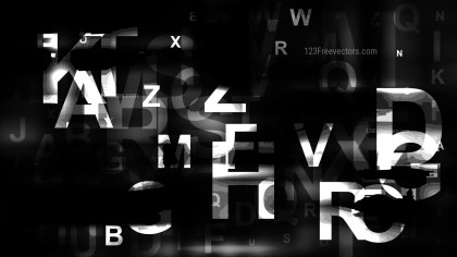 Abstract Black Random Alphabet Letters Background Illustrator